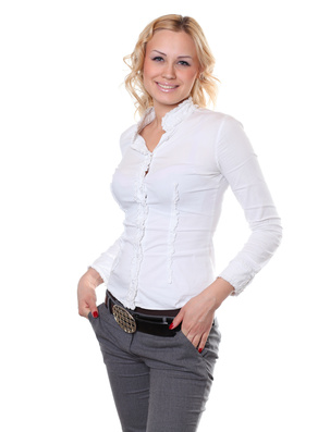 Attractive blond woman from Eastern Europe looking for love
